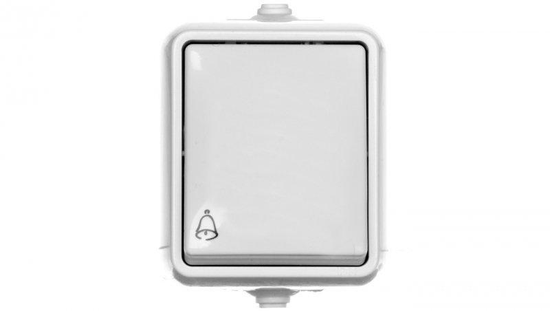 HYDRO Przycisk hermetyczny /dzwonek/ IP44 biały 120404