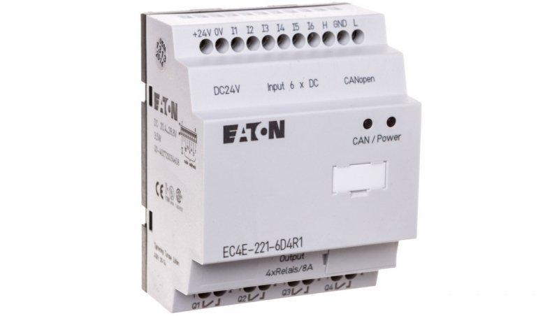 Moduł rozszerzenia CANopen 6 wejść cyfrowych 4 wyjścia przekaźnikowe EC4E-221-6D4R1 114296