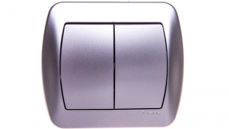 Simon Akord Łącznik schodowy podwójny aluminium metalizowane AW6/2/26