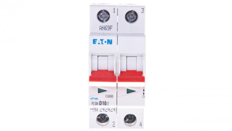 Wyłącznik nadprądowy 2P D 10A 10kA AC PLSM-D10/2-MW 242424