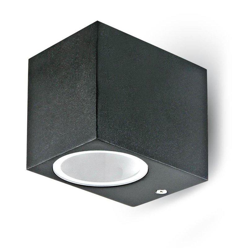 Kinkiet Ścienny V-TAC GU10 Aluminium Kwadrat Czarny W Dół IP44 VT-7651
