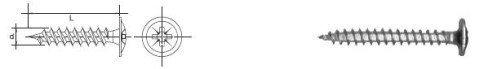 WKRĘT DO DREWNA ŁEB PODKŁADKOWY WHD 3.0*16MM