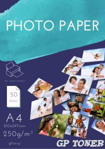 Papier Fotograficzny Błyszczący A4 250g 50 szt PAP-A4-FOTO250