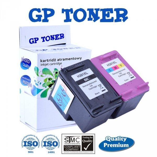 Zamiennik 2x Tusze do HP 301XL DeskJet 1050a 1510 2050a 3050 3055 - GP-H301XL BK+CMY ZESTAW