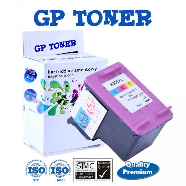 Zamiennik Tusz do HP 301XL DeskJet 1050a 1510 2050a 3050 3055 - GP-H301XL CMY Color