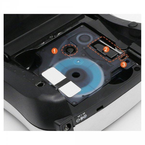 Taśma do DYMO D1 43613 7m 6mm biało czarna zamiennik GP-DY43613