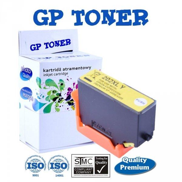 Tusze do Epson 202XL Expression Premium XP-6000 XP-6005 XP-6100 - GP-E202Y - Żółty