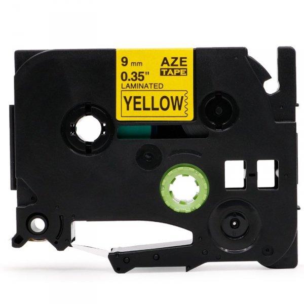 Taśma zamiennik do Brother TZ-621 Czarny na żółtym