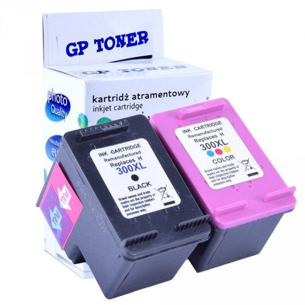 2x Tusze do HP 300XL DeskJet D2560 F4580 F2480 F4210 F2420 - zamiennik GP-H300XL BK+CMY Zestaw