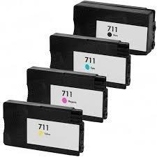 Tusze Zamiennik HP Designjet T120 T520 - GP-H711BK Black