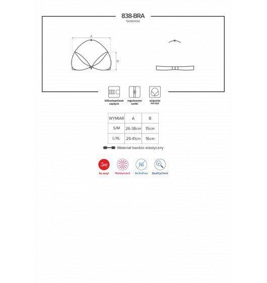838-BRA-3 biustonosz czerwony L/XL