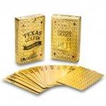 W 100% plastikowe karty do pokera DELUXE GOLD