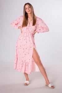 sukienka midi w serduszka