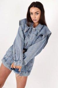 jeansowa kurtka oversize