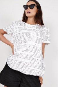 t-shirt bombka z printem