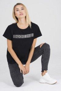 oversize'owy t-shirt z apliakcją