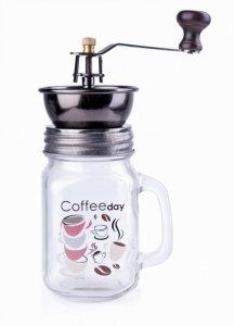 MŁYNEK RĘCZNY DO KAWY SZKLANY 400ml COFFEE DAY MONDEX HTID1817