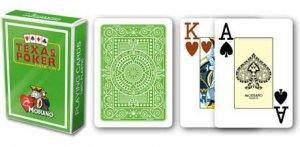 Modiano 2 rogi 100% karty plastikowe - jasno zielone