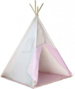 Namiot tipi dla dzieci, różowo-beżowy, bez dodatków