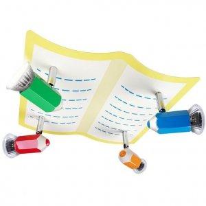 LED  Lampa sufitowa z kolorowymi kredkami