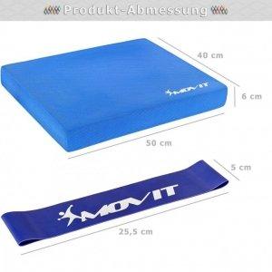 Poduszka Balance z gumką gimnastyczną - niebieska