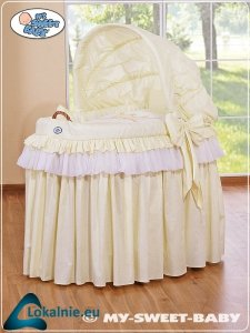 Kosz Mojżesza z budą- Little Prince/Princess kremowy