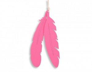 Dekoracyjne pióra z filcu 2szt. - różowe