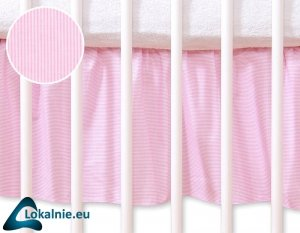 Falbanka maskująca 140x70cm- Osiołek Lucek różowy