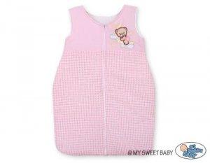 Śpiworek niemowlęcy- Dobranoc różowe