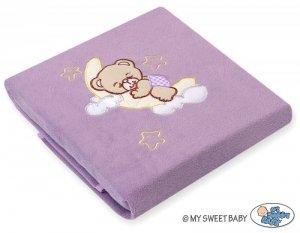 Kocyk polarowy- Dobranoc fioletowe