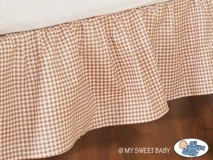 Falbanka maskująca 140x70cm- Dobranoc brązowe