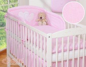 Ochraniacz uniwersalny- Wiszące serduszka paseczki różowe