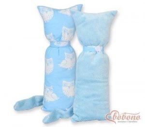 Kot przytulanka dwustronna - Simple sowy niebieski