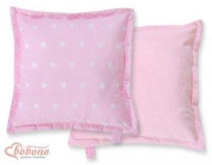 Poduszka dwustronna- Gwiazdki różowe