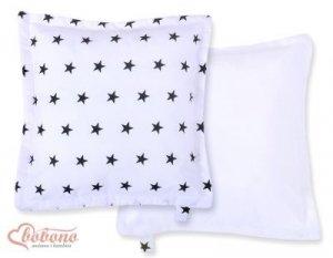 Poduszka dwustronna- Gwiazdki czarne