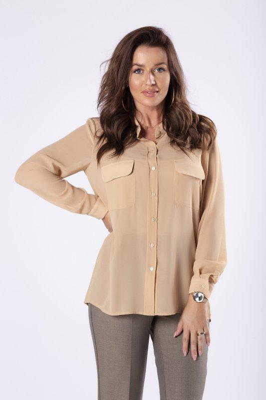 dwuwarstwowa bluzka o koszulowym kroju