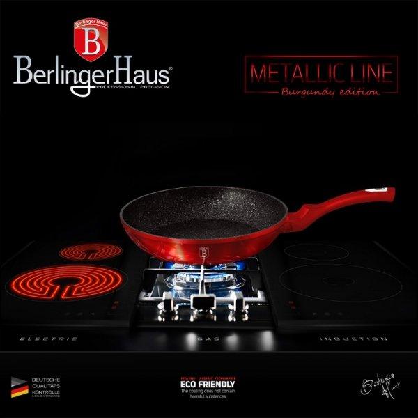 ZESTAW 2 PATELNI GRANITOWYCH 22/26CM BERLINGER HAUS METALLIC LINE BURGUNDY BH-1612-N