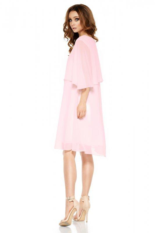 Szyfonowa sukienka z narzutką L261