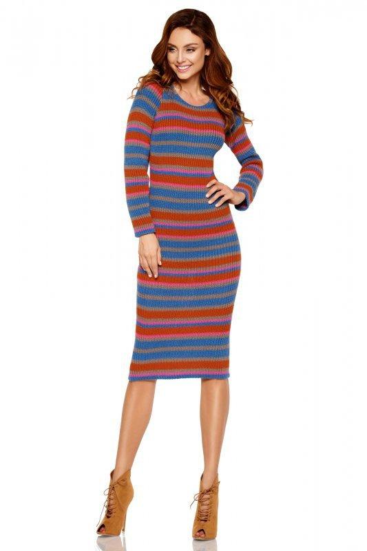 Kobieca ołówkowa sweterkowa sukienka LS224