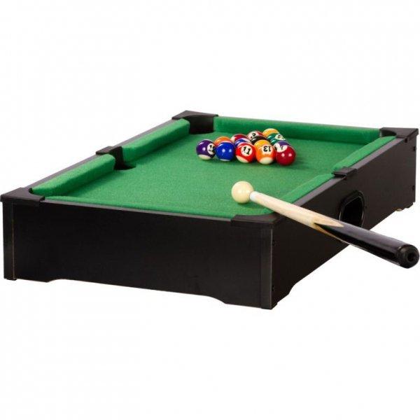 Mini bilard stołowy z akcesoriami 51 x 31 x 10 cm - czarny