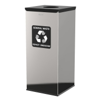 Kosz do segregacji odpadów EKO SQUARE PRESTIGE 60L odpady zmieszane