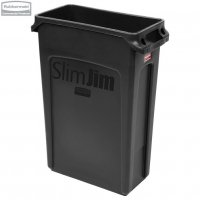 Kosz Slim Jim® With Venting 87L Black