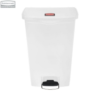 Kosz Slim Jim® Step-On 68L Resin Containers white