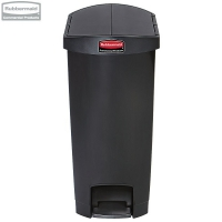 Kosz Slim Jim® Step-On 68L Resin Containers End Step Style black