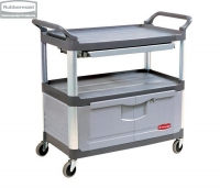 Wózek X-tra™ z szufladą i szafką grey
