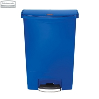 Kosz Slim Jim® Step-On 90L Resin Containers blue