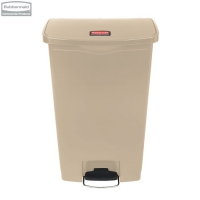 Kosz Slim Jim® Step-On 68L Resin Containers beige
