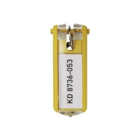 Zawieszki do kluczy DURABLE żółte (6)