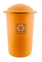 Kosz do segregacji odpadów TOP BIN 50L żółty