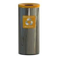 Kosz do segregacji odpadów EKO PRESTIGE 45L plastik i metal